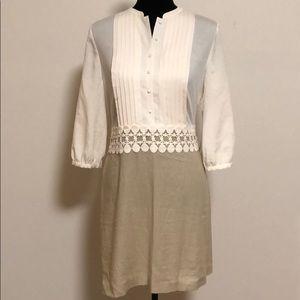 Kensie Dresses - New Kensie Linen combo dress size medium